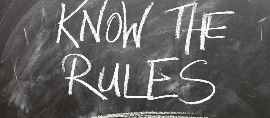 rules, chalkboard
